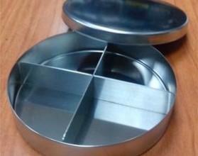 Лоток стомат. с крышкой ЛСК-100х25 , круглый с разделителем